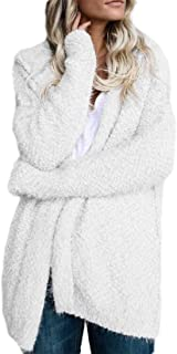 Macondoo Womens Hooded Oversized Peacoat Fall/Winter Sherpa Outwear