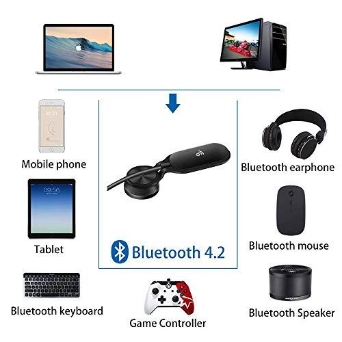 Lemorele Wireless USB WiFi-Adapter 5G/2,5G USB Bluetooth 4.2 Dual Band AC 600Mbps Mini WiFi Dongle met Sticker voor Desktop Laptop PC Projector ondersteuning, Windows XP/7/8/10, Mac OS 9.0-10.14