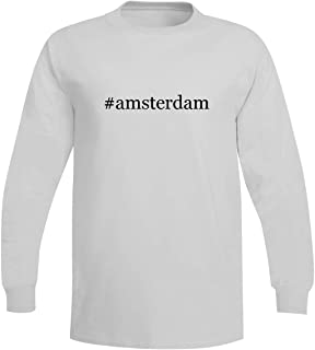 The Town Butler #Amsterdam - A Soft & Comfortable Hashtag Men's Long Sleeve T-Shirt