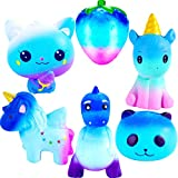 Galaxy Jumbo Squishies Slow Rising Animal Squishy Toys Newest Unicorn Galaxy Squishies Party Favors Goodies Bags Class Prize Cream Scented & Kawaii Squishys Stress Relief Toys for Adults Kids(6 Pack)