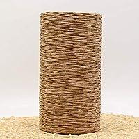 LINFA 500G / Lote Hilo de Paja de Rafia Hilo de Ganchillo para Tejer Verano Sombrero de Paja Bolsos Cojines Cestas Material Hilo de Tejer a Mano, Bronceado Claro