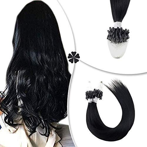 Hetto Micro Loop Real Hair Extensions in Dark Brown
