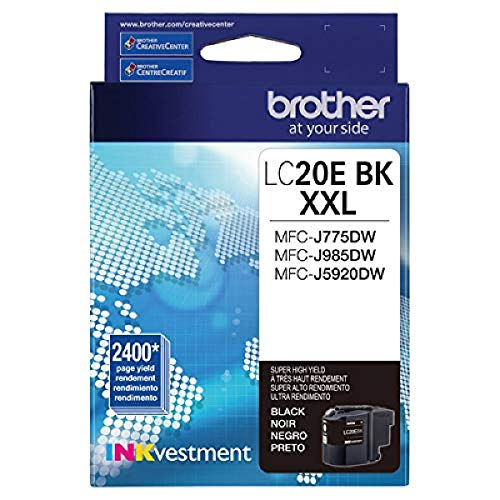 Brother LC20EBK Super High Yield Black Ink Cartridge