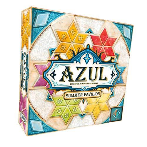 MXGP Juego de Mesa para Adultos Azul 3 generación Pabellón de Verano Azul Azulejos de cerámica de Color Juegos de Mesa Adolescentes Niños Estrategia Juego de Cartas,en inglés