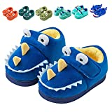 Fadezar Zapatillas De Estar por Casa para Niñas Niños Invierno Pantuflas Animales Antideslizantes Cálido Slippers Azul EU 21/22 (Tamaño de la etiqueta140)