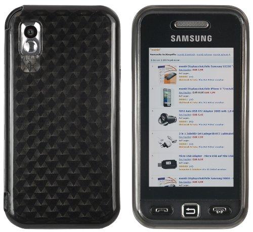 mumbi Hülle kompatibel mit Samsung Star Handy Hülle Handyhülle, transparent schwarz