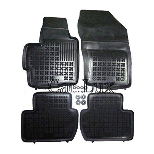 Car Lux - AR01337 Alfombras Alfombrillas de goma a medida para 4007 tipo cubeta 3D