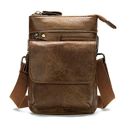 Kleine Ledergürteltasche,Kamera Tasche,Telefontasche,Retro-Outdoor-Tasche für Herren 180 * 120 * 40mm (braun)