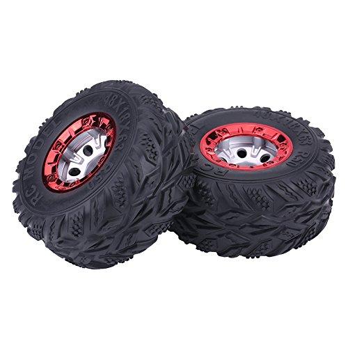 Dilwe 2Pcs Gummireifen, RC Auto-Reifen mit Nabe-Rad für FY-CL02 1:12 RC-Rennwagen-LKW