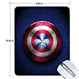 Captain America Gaming Mouse Pad Non-Slip Rubber Mousepad 11.81 X 9.84 inches Rectangle Mouse Mat Smooth Surface Mouse Pads