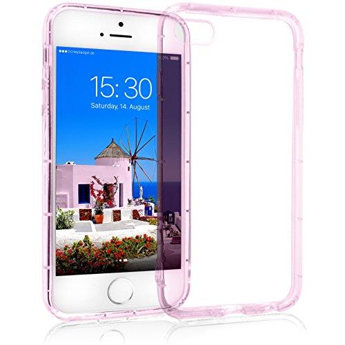 MyGadget Crystal Case TPU per Apple iPhone SE / 5s / 5 - Custodia Protettiva Morbida e Leggera – Cover Silicone Resistente Antiurto/Antigraffio - Rosa