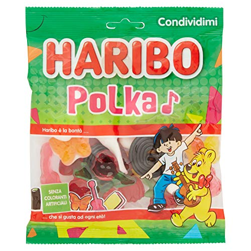 Haribo Polka Assortimento di Caramelle, 175g
