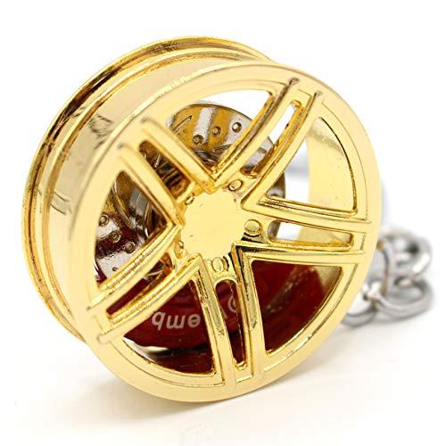 VmG-Store Felge Schlüsselanhänger aus Metall Design109 Anhänger für Schlüssel (Gold Chrom)