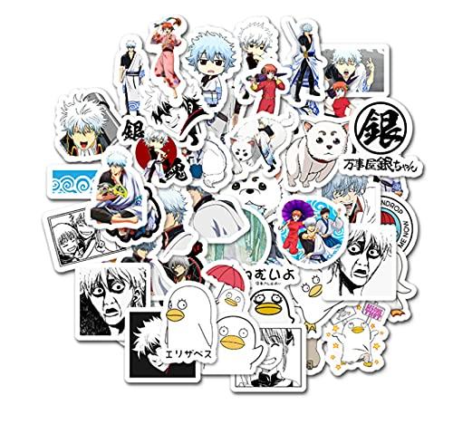 GSNY Pegatinas de Graffiti con Personalidad de Anime de Dibujos Animados de Gintama, Pegatinas para Equipaje, teléfono bidimensional, Nevera, Pegatinas Impermeables, 50 Hojas