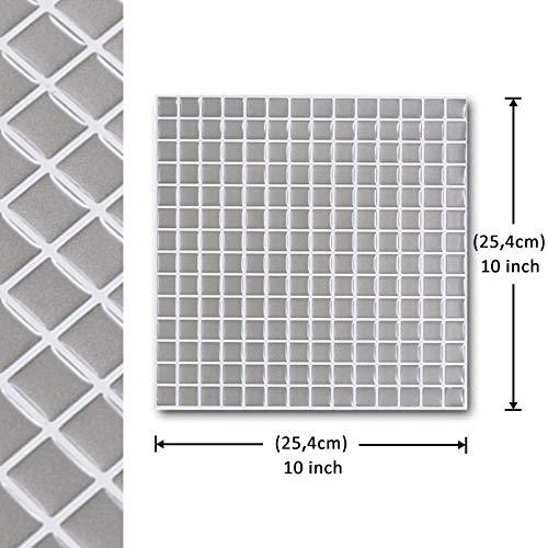 Vinilo decorativo para azulejos grueso y resistente al desgaste,Pelar y pegar a prueba de agua Cerámica 3 d Mosaico de pared Etiqueta adhesiva-10 Hoja