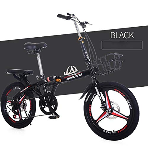 Fantastic Deal! Landscap Folding City Bike Compact Bike Bicycle,Adult Folding Bicycle Student Bike D...