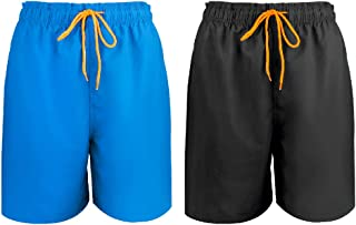 2 Pieces Swim Trunks Quick Dry Men's Quarter Shorts Breathable