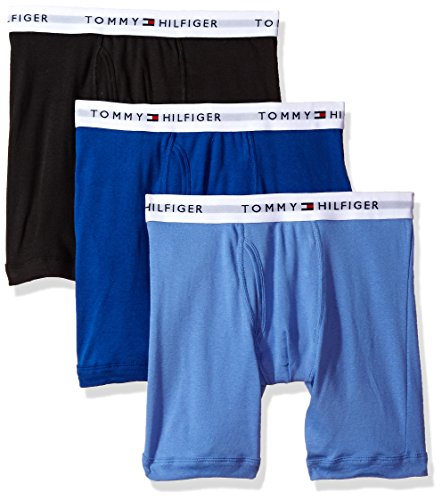 Tommy Hilfiger Men's Underwear Multipack Cotton Classics Boxer Briefs, Ink Blue, X-Large