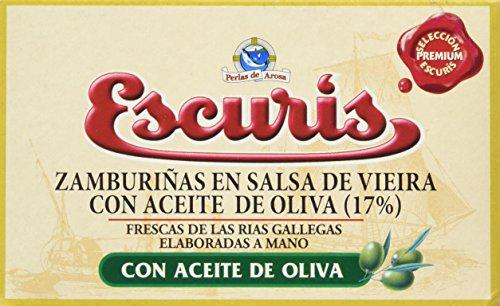 Escuris Zamburiñas en Salsa de Vieira - 3 Paquetes de 120 gr - Total: 360 gr