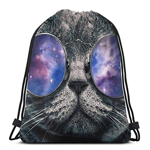 Chill Cat Sport Bag Gym Sack Drstring Backpack for Gym Shopping