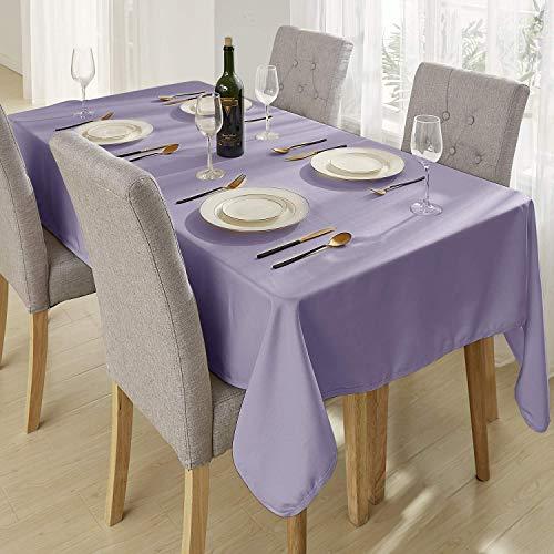 Deconovo Tafelkleden Rechthoekig Vlekbestendig Waterdicht Voor Tafel in Lavendel Oxford-stof 130x280cm