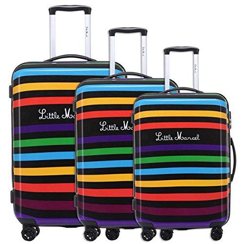 Lot de 3 valises 8802/3/rayures Little Marcel
