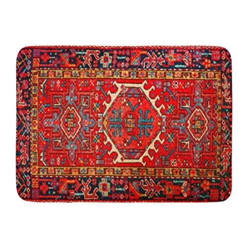 Yaoni Tapis de Bain Iran Tapis Persan Rouge Oriental iranien Rustique élégant Boho Salle de Bain décor Tapis