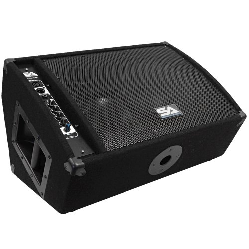 Seismic Audio FL-12MP-PW 300-Watt RMS 2-Way 12-Inch Floor/Stage Monitor Wedge Style with Titanium Horn