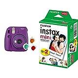 Fujifilm Instax Mini 9 - Cámara instantanea, Morado + Pack de 20 películas