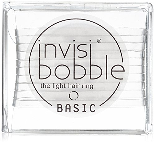 invisibobble BASIC Crystal Clear, the light hair ring, ultraleichtes Haargummi für jeden Tag (1 x 10 Stück)