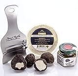 BLACK TRUFFLE CHEFS DINNER KIT - Fresh Summer Black Truffles 2oz | White Truffle Butter 6.5 oz | Black Truffle Sauce 3.2 oz | Truffle Shaver/Slicer