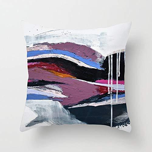 GYYbling Pillow Case Abstract Hand Painting Throw Pillowcase Geometric Pillowcase Home Sofa Decorative Pillowcase Cushion Cover A28 45x45cm 2pc
