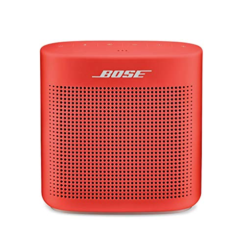 Bose SoundLink Color II: Portable Bluetooth, Wireless Speaker with Microphone- Coral Red