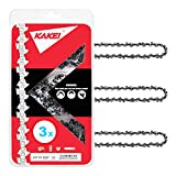 """KAKEI Chainsaw Chain 14-Inch.050"""" Gauge, 3/8"""" LP Pitch, 52 Drive Links Fits Craftsman/Sears, Poulan, Echo, Homelite, Husqvarna, McCulloch, Worx, Sears, Chicago (3)"""