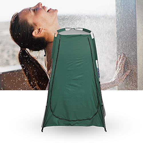 harupink - Tienda de campaña para el baño con sistema pop-up y protección de visión portátil al aire libre, privado, para exterior, para duchas de exterior 120 x 120 x 190 cm (verde)