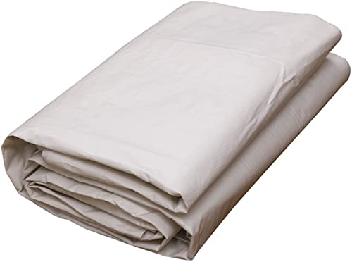 Tarpaulin HUO Bache Durable Forte, Tissu Anti-UV De Hangar Imperméable, Blanc, 175g   M2 (Couleur   Blanc, Taille   10  12M)