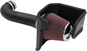 K&N Cold Air Intake Kit with Washable Air Filter: 2011-2019 Dodge/Chrysler (Challenger, Charger, 300) 5.7L V8, Black HDPE Tube with Red Oiled Filter, 63-1114