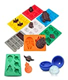 9 Piece Set of Wars Ice Cube Tray BPA Free Silicone Moulds in Star Wars Character Shapes, Ideal for Chocolate, Ice Cube Trays Christmas Baking Soap & Candle Making