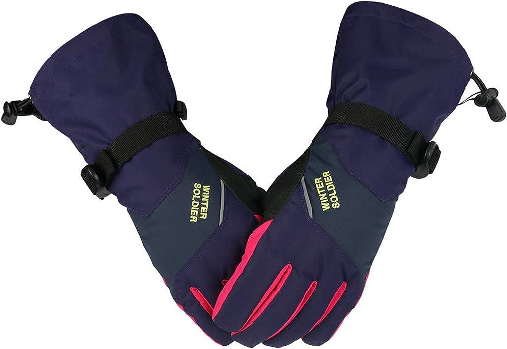 Dsxnklnd Winter Thick Warm Ski Gloves Adult Riding Outdoor Climbing TouchScreen Glove