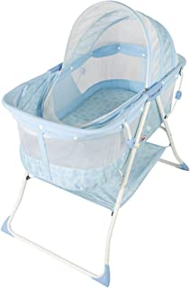Mulla Love Newborn Baby Crib, Fixed, Blue