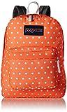 JanSport Womens Mainstream Superbreak Backpack - Tahitian Orange/White 16.7'H X 13'W