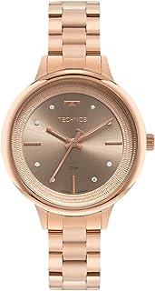 Relógio Technos, Pulseira de Aço Inoxidável, Feminino Rosé 2039DC/1C