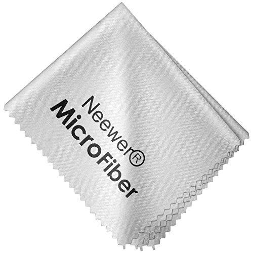 Neewer® - Paño de Limpieza de Microfibra 15x 14,5cm, Ultra Suave para Pantallas LCD, Lentes de cámara, Gafas, tabletas, Smartphones y Otras Superficies delicadas, Color Gris