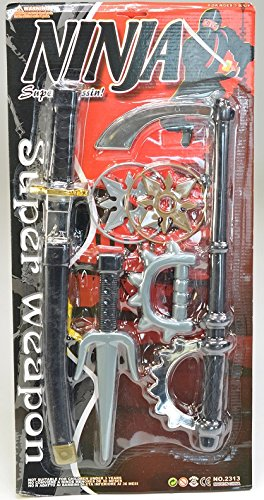 Set Ninja Enfant - 6 Pieces - Jouet Garcon Armes Sabre Epee - 340