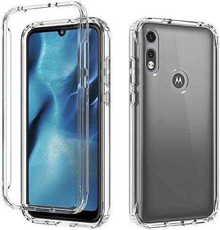 AMENQ Case for Moto E 2020 Motorola Moto E7 Case Transparent Heavy Duty Shock Absorbing and product image
