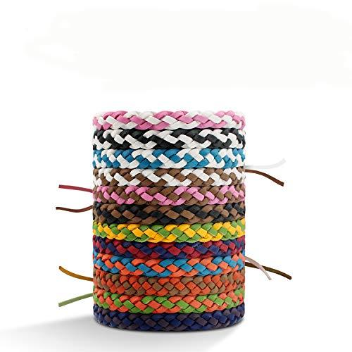 Emiup, braccialetto repellente per zanzare, confezione da 12 pezzi, 100% naturale, anti...