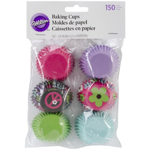 Wilton Mini Baking Cups, Peace Flower, 150/Pack