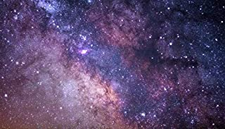 YYAYA.DS Starry Sky Milky Way Stars Glitter Space. - Art Print Silk Fabric Cloth Rolled Wall Poster Print 24x13 Inches