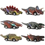 Dinosaur Toy car,boy Toys Age 3 to 12 Toy Dinosaur 5.3 Inch Toys for 3,4,5,6,7,8,9,10,11,12 Year Old Boys Full-Form Dino car Toy,6 Pack