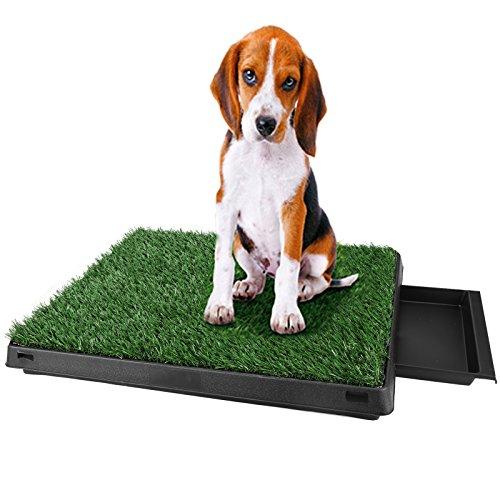 Inodoro para Mascotas Perro Césped Interior Orinal Perro Almohadilla de Entrenamiento de Hierba para Animal Doméstico(63 x 50 x 7 cm)